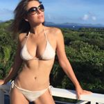 @elizabethhurley1 in our Ivory Snake Bikini #nationalbikiniday