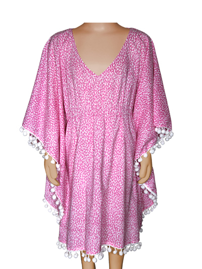 Pink Cheetah Cover Up