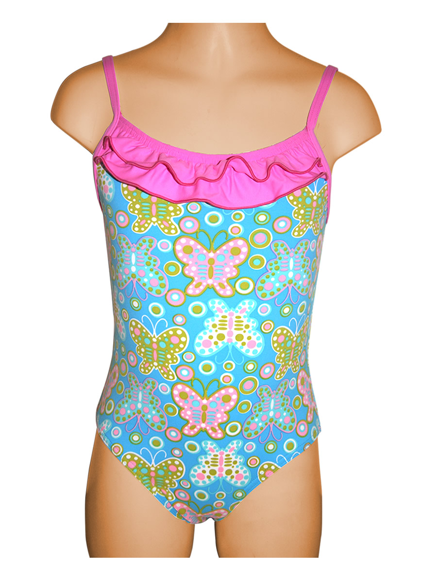 Aqua Butterfly One Piece