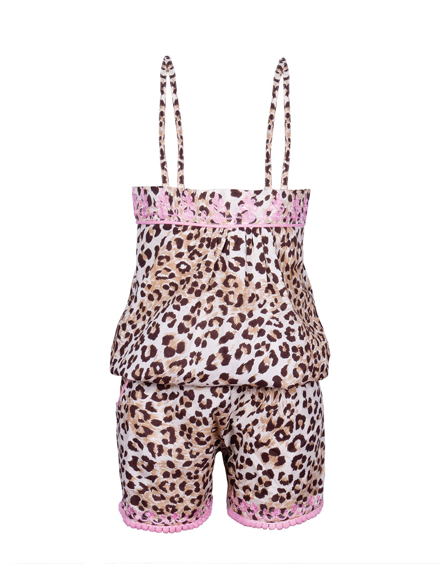 Cheetah Rose Playsuit